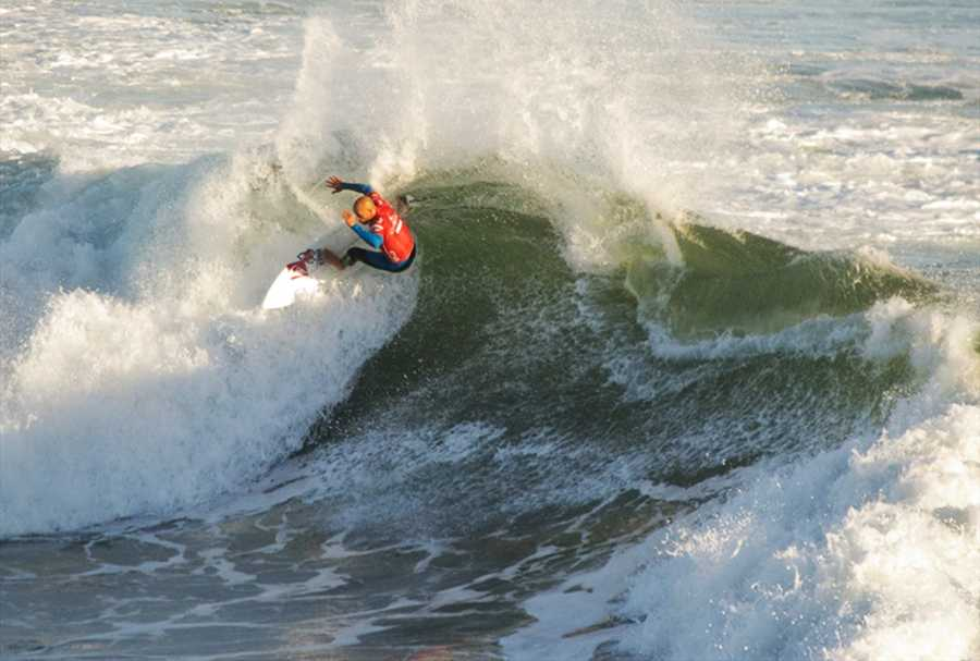 Slater is seen competing in the 2012 O'Neill Coldwater Classic.