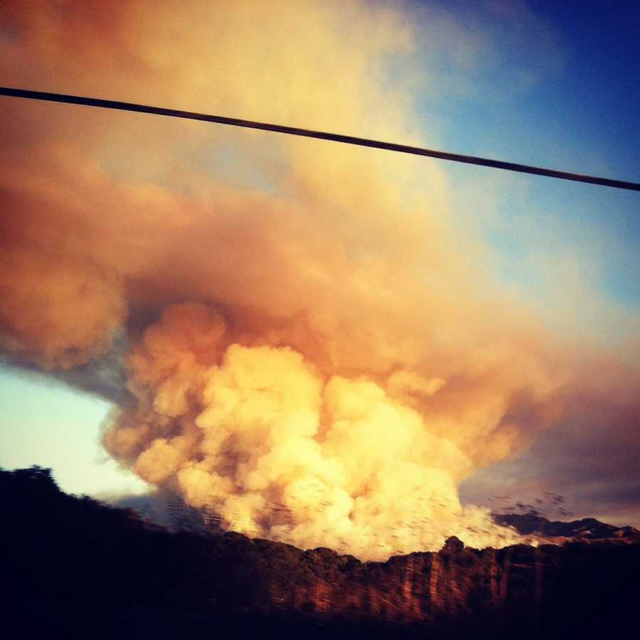 Jason Armendariz snapped this photograph from Crazy Horse Road in Salinas.