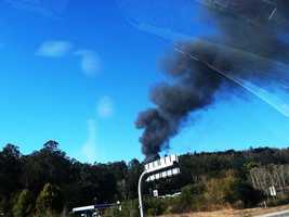 By coincidence, after the controlled burn was ignited at 10 a.m., a wildfire sparked at 1:45 p.m. near Highway 101 in Prunedale.Flames spread out of control andscorched10 acres before firefighters contained it.