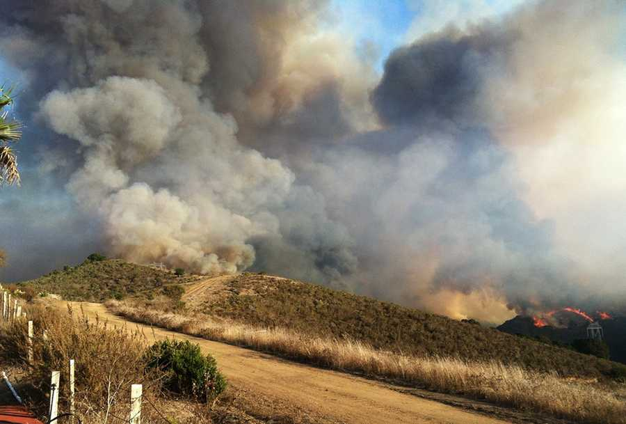 Why were the fires so visible? It all started with a 1,000-acre controlled burn in Salinas that was intentionally ignited on Tuesday. Firefighters believed conditions were right to safely burn back brush that was prone to wildfires.