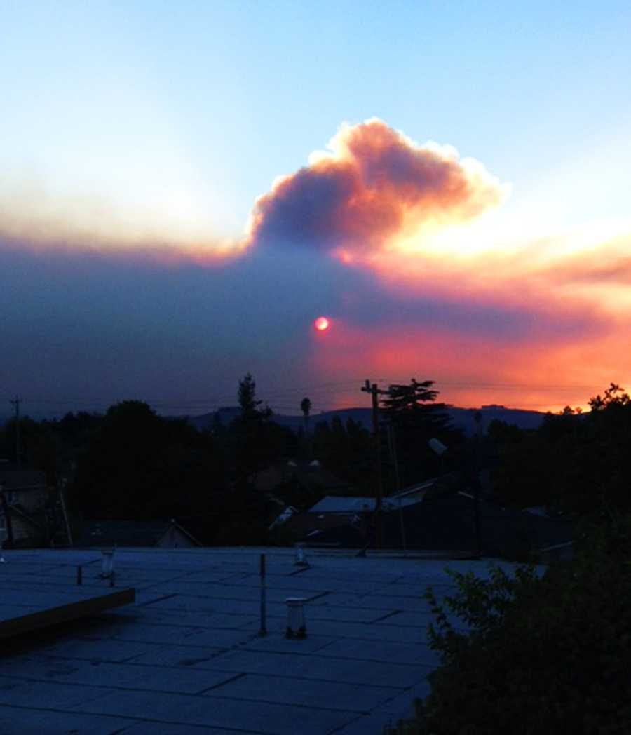 Another Hollister resident captured this smokey sunset photo.