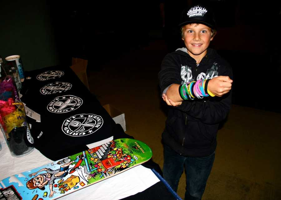 The event raised money for Grind Out Hunger, a local nonprofit that collects food and donations through non-traditional methods such as organizing skateboarding and surfing contests.