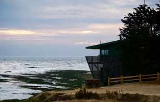 """Jack O'Neill is a wetsuit pioneer who empowered surfers to dive into Northern California's frigid water temperatures.He lives in this green house where he can watch surfers from sunrise to sunset shredding a wave break named """"Jack's.""""Read the story here"""
