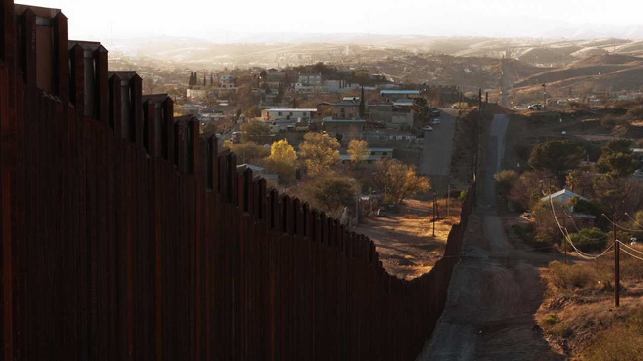 The U.S.-Mexico border is seen in Arizona.