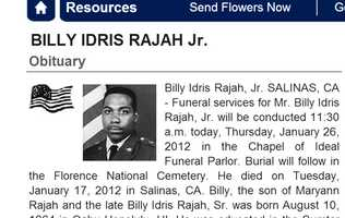 Jan. 17, 2012: Billy Idris Rajah Jr., 47, of Salinas: Rajah was intentionally hit and run over by a driver in an SUV on Market Way and Soledad Street. He was a U.S. Army veteran.