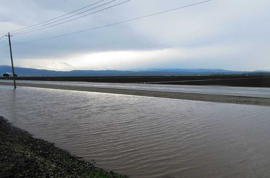 Flooding threatened to spread onto Highway 183 between Salinas and Castroville.