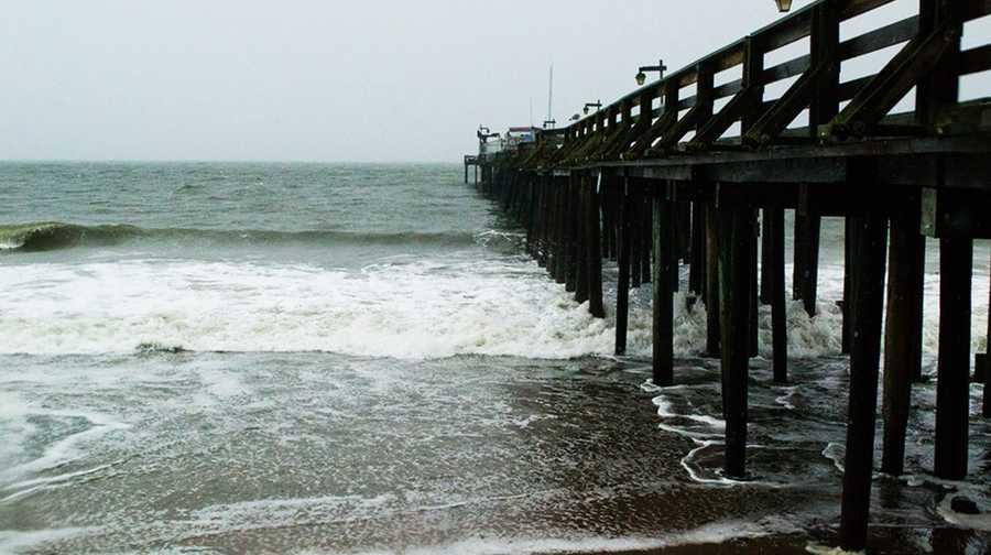 High surf crashed on shore at Capitola Village. (Nov. 30, 2012)