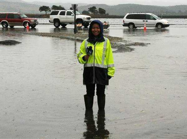 KSBW Reporter May Chow reports in Salinas while Davis Road was flooded Friday morning.(Nov. 30, 2012)