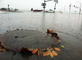 The second in a series of storms soaked the Central Coast Friday and knocked out power in Seaside, toppled trees in Santa Cruz, shut down Highway 101 in Chualar, and may have caused one person to drown in Capitola. (Nov. 30, 2012)
