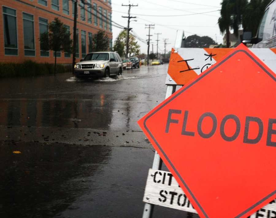 Capitola Street in Salinas was covered in rain.(Nov. 30, 2012)