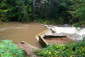 The storm made the San Lorenzo River in Boulder Creek swell to eight feet. (Nov. 30, 2012)