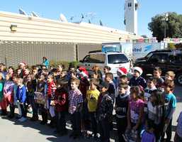 Lincoln Elementary School students sang at KSBW's Salinas television studio.