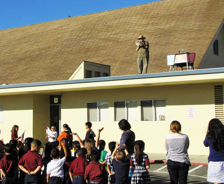 #4: Principal on the roofOn November 6, Mr. Jim Wallace, Principal at Salinas Christian School, did his job from the roof of the school building.Wallace had promised students that he would spend a school day on the roof if they exceeded their goal for the Fall Scholastic Book Fair. The goal for this year was to reach $3,000 in sales.