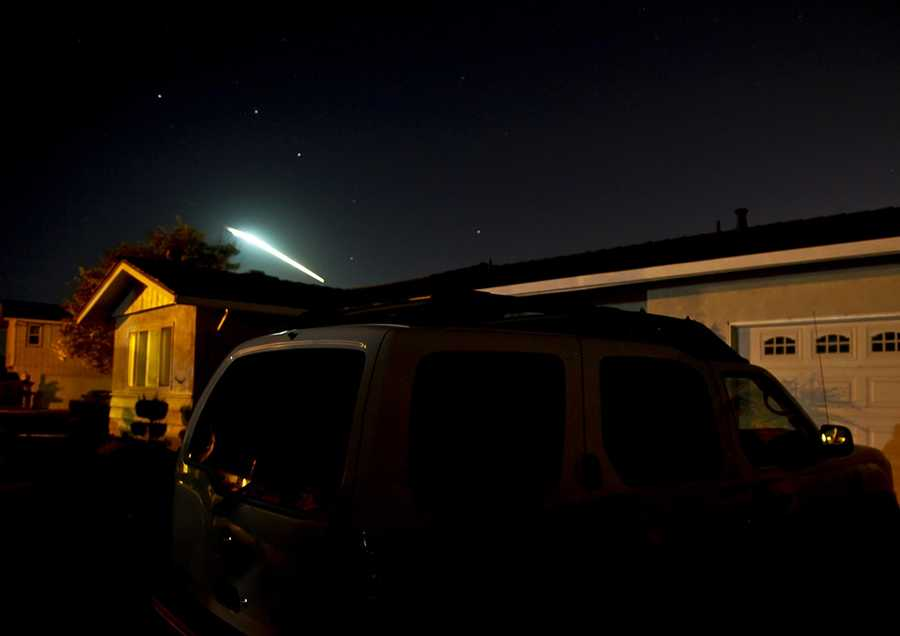 #1: Meteor streaks across the skyRalphXM had fast reflexes and instincts when he captured this meteor darting across a night sky while he was standing outside his Salinas house.Click here to upload your newsworthy or fun photos on ulocal
