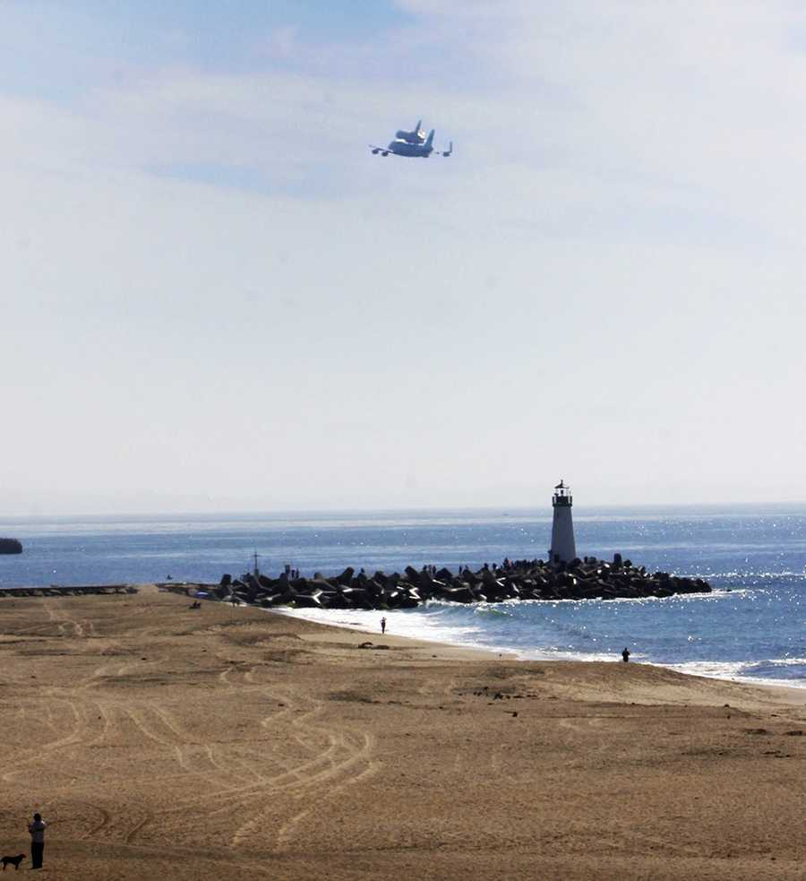 #14: Space Shuttle Endeavour's last flightKarri Breslin captured Space Shuttle Endeavour flying over the Santa Cruz Harbor on September 21, 2012 at 10:30 a.m.
