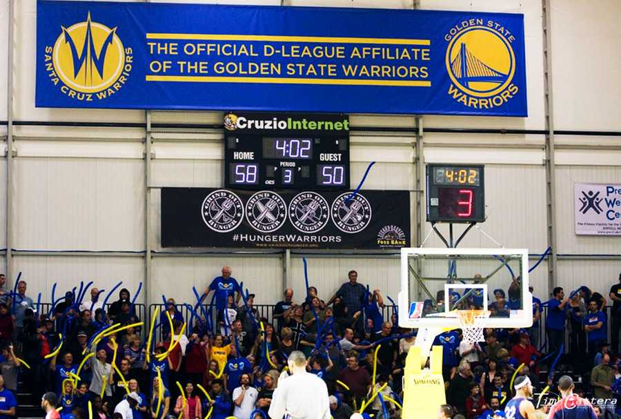 Grind Out Hunger, a Santa Cruz nonprofit group that combats hunger, is the official charity of the Warriors.