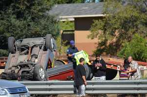 #5: Serious crash in SalinasA collision on Highway 101 in Salinas left several drivers distraught. Photo by Michael Stevens