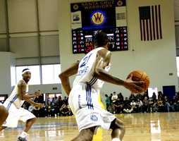 Jan. 1, 2013 Game: The Golden State Warriors NBA team moved their Development-League team from snowy North Dakota to sunny Santa Cruz last year after getting a green light from the city council, and the Warriors became Surf City's first-ever professional sports team.Read the story here
