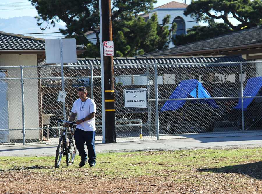 Salinas city public works crews and police officers did a sweep of Chinatown homeless encampments on Jan. 31. Here is what the neighborhood looked like the day before the sweep.