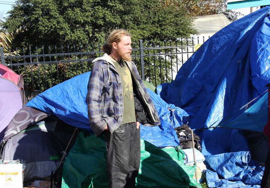 """""""When you have nothing to begin with, losing everything is really depressing. It sucks the wind out of your sails,"""" homeless resident Danny Olf said. """"It really just seems they don't care. They don't even consider us as people."""""""