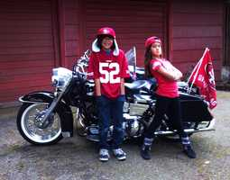 These 49er fans in Santa Cruz are road warriors.