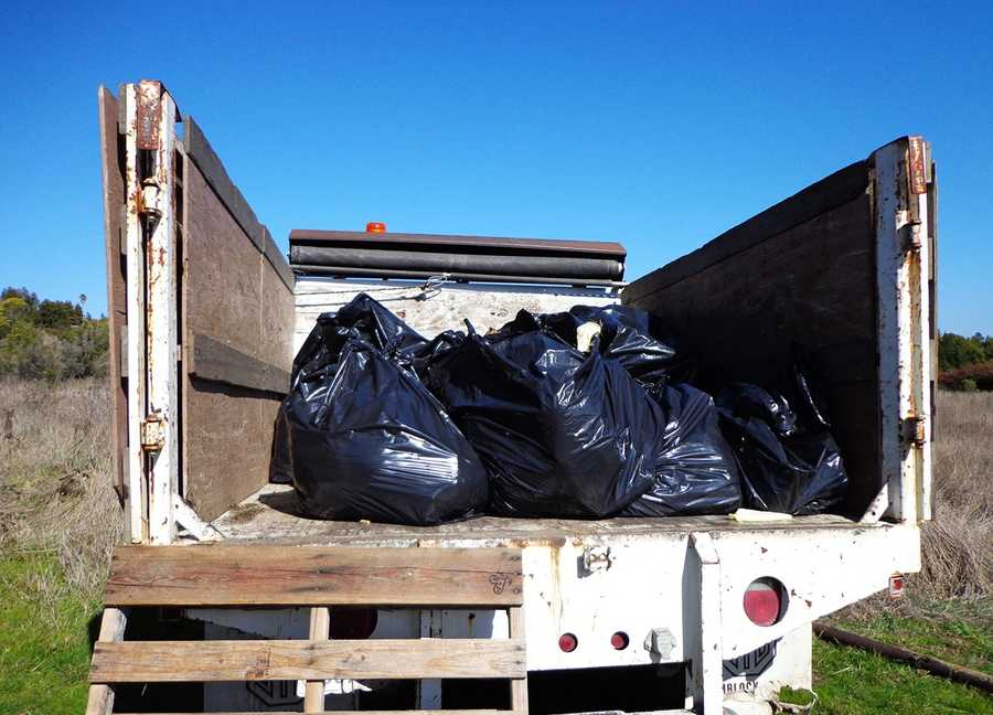 Volunteers have hauled away thousands of pounds of trash since November, mostly from abandoned homeless encampments.