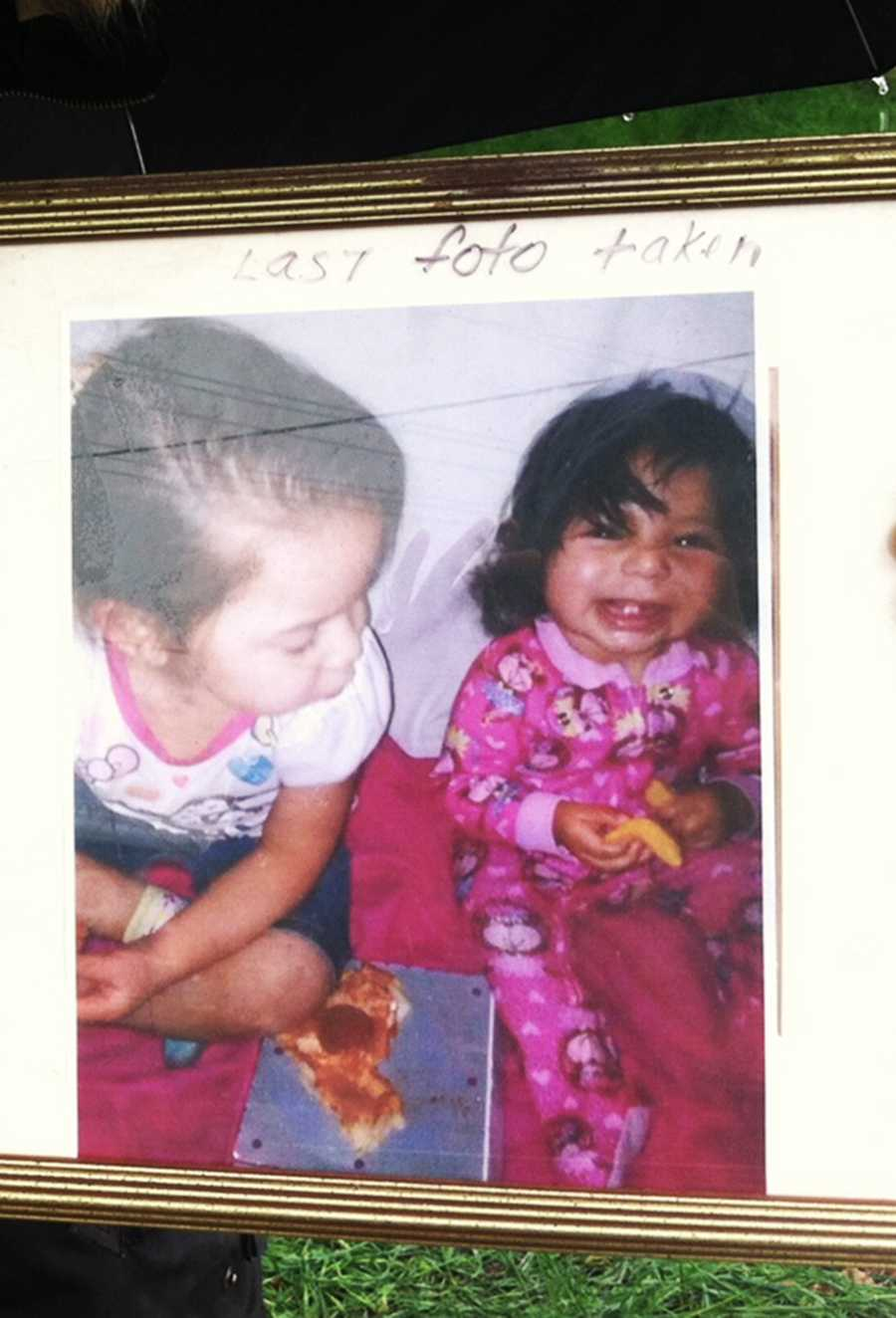 This is the last known photo taken of baby Angelle Jenisis Negronbefore she was slain.