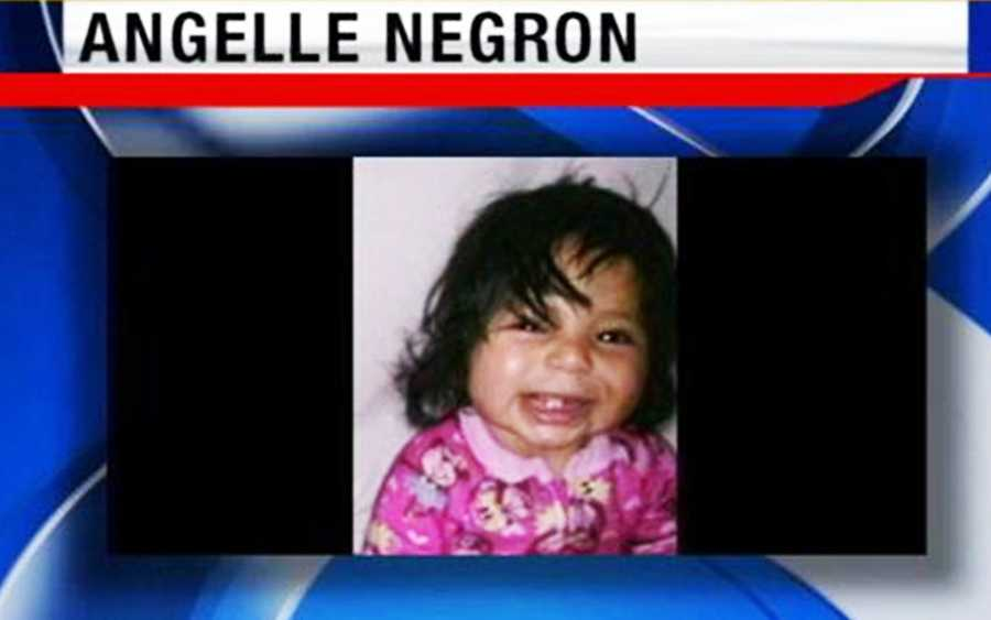 """Angelle Jenisis Negron, a 10-month-old Castroville infant, was last seen alive at her grandmother's house on Feb. 2.Her mother's boyfriend, Jesus """"Jesse"""" Vargas Espinoza,claimed he took her to Disneyland but never returned."""