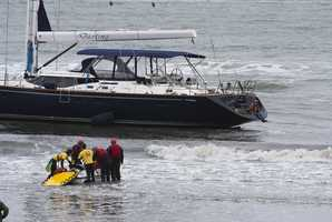 Coast Guard investigators discovered that the yacht was stolen when the boat's owner called police and said he saw his boat on the news.Photo by Frank Quirarte / Mavsurfer.com