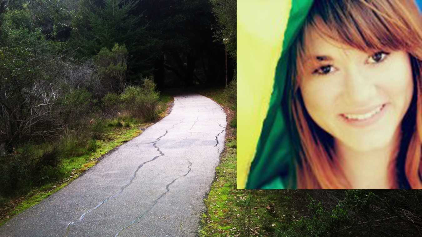 Morgan Triplett said she was raped on this walking path at UC Santa Cruz.