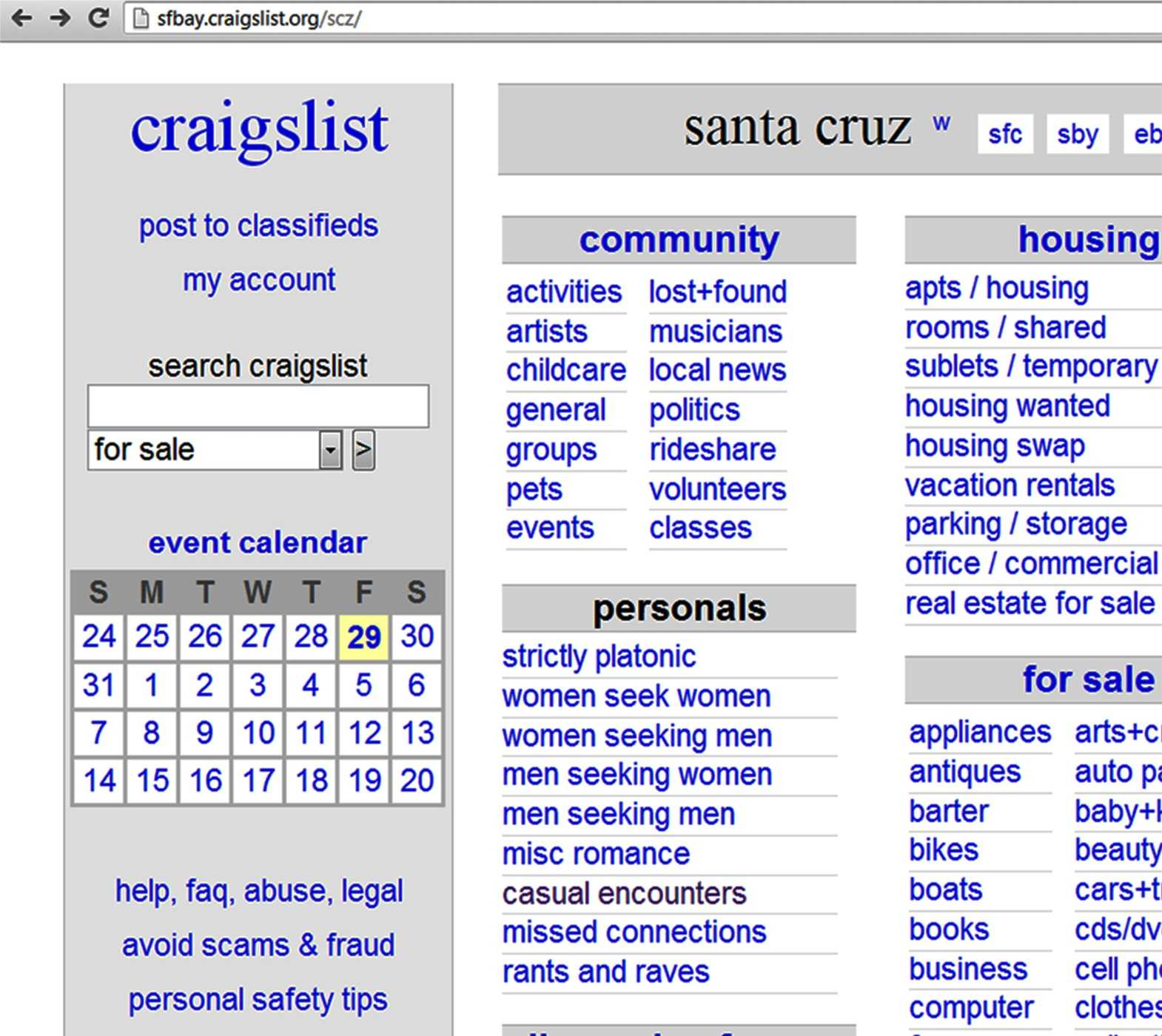 craigslist santa cruz garage sales
