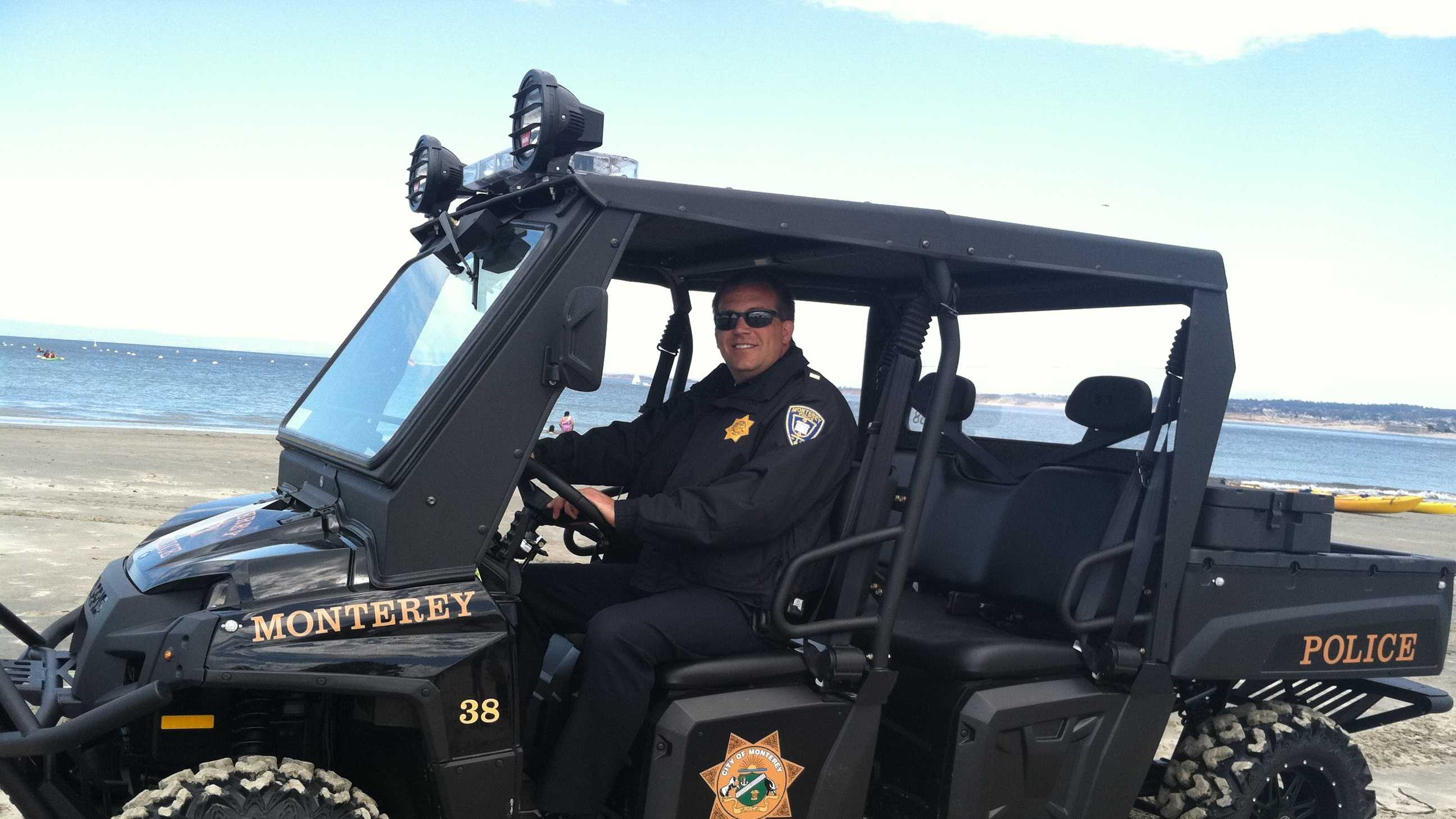 The Monterey Police Department recently added a Polaris Ranger 900 Utility Terrain Vehicle to its fleet.