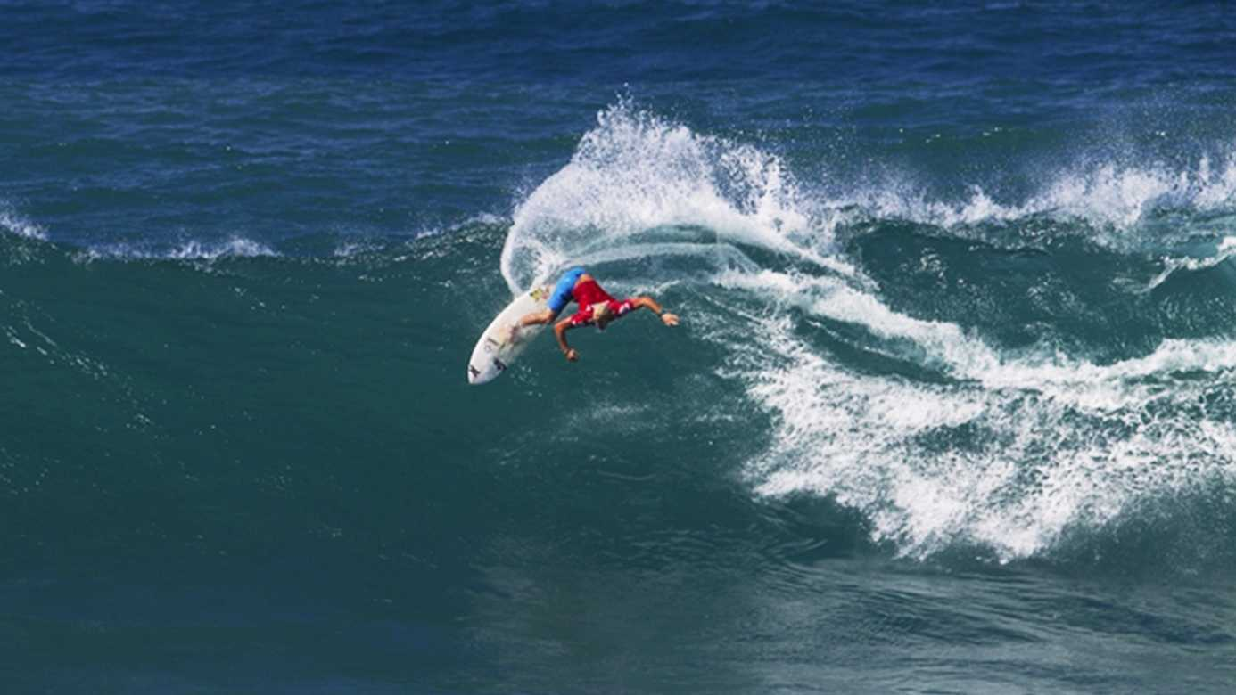 Nat Young of Santa Cruz is competing on the ASP world tour.