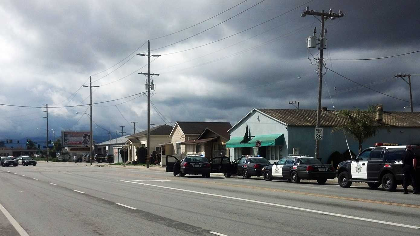 Monday's standoff happened on this Salinas street.
