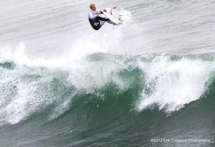 Nat Young is seen training at home in Santa Cruz. (Photo by Erik Colasanti)