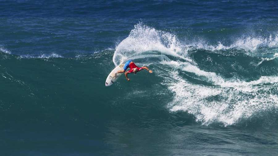 Nat Young is seen in 2013 competing in his first-ever ASP World Championship Tour contest.
