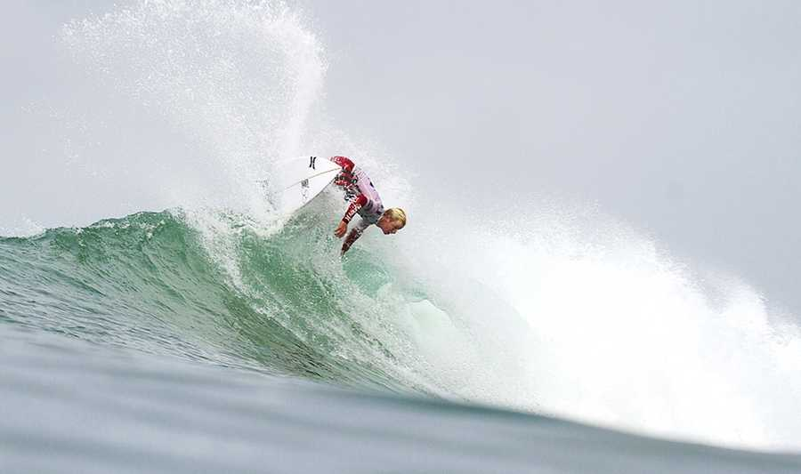 Young surfs at the 2013 Rip Curl Pro Bells Beach.