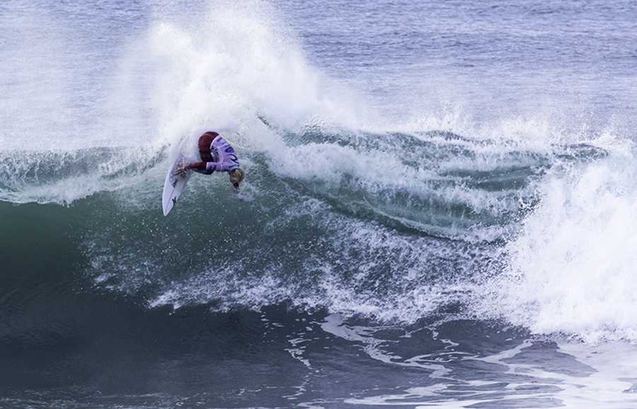 Young surfs his way to the final of the Rip Curl Pro Bells Beach in April 2013.