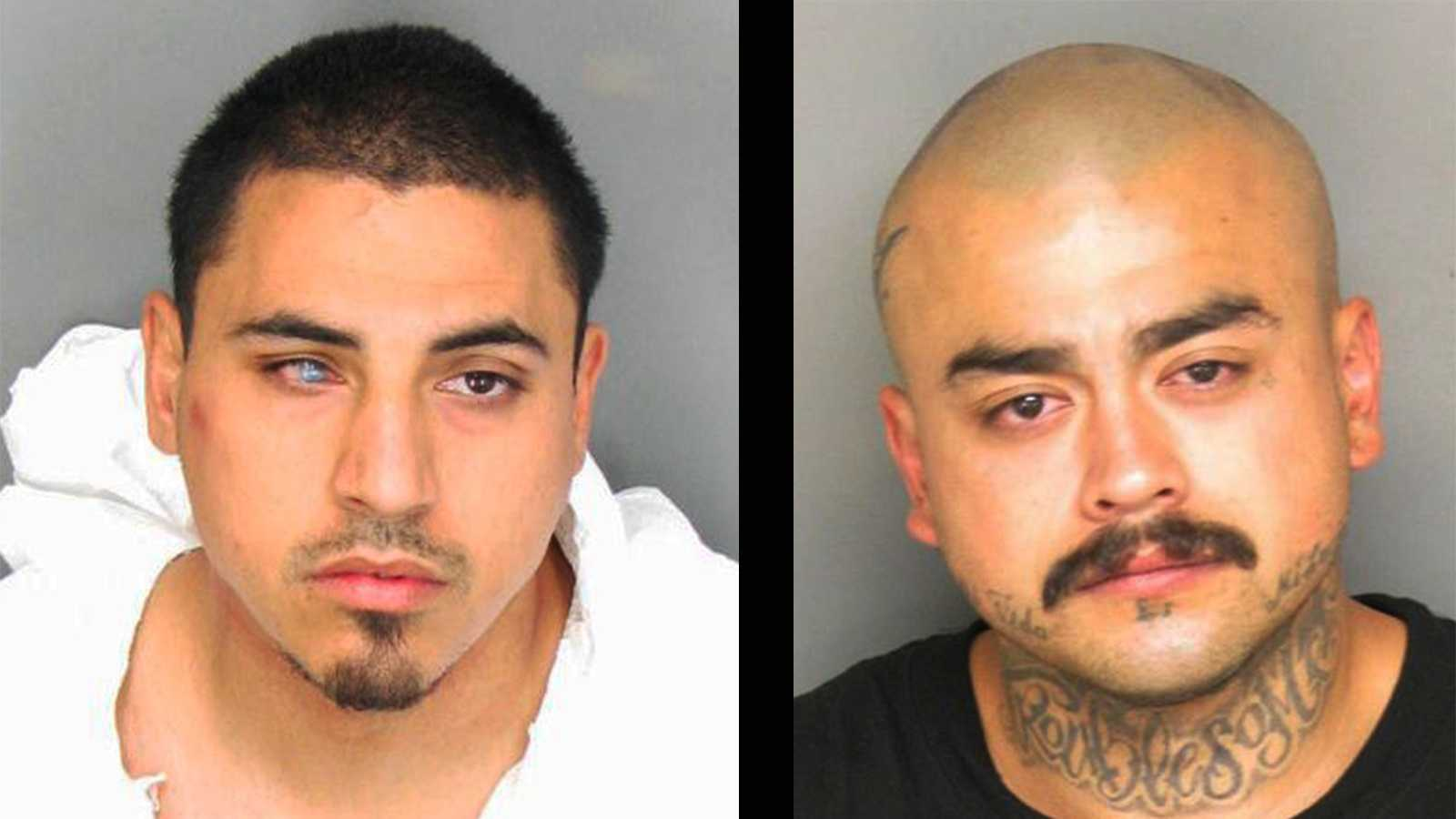 Daniel Magdalen, left, and Daniel Sanchez, right, are Salinas gang members, police said.
