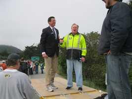 KSBW Sports Anchor Dennis Lehnen reports at the 2013 Big Sur International Marathon.