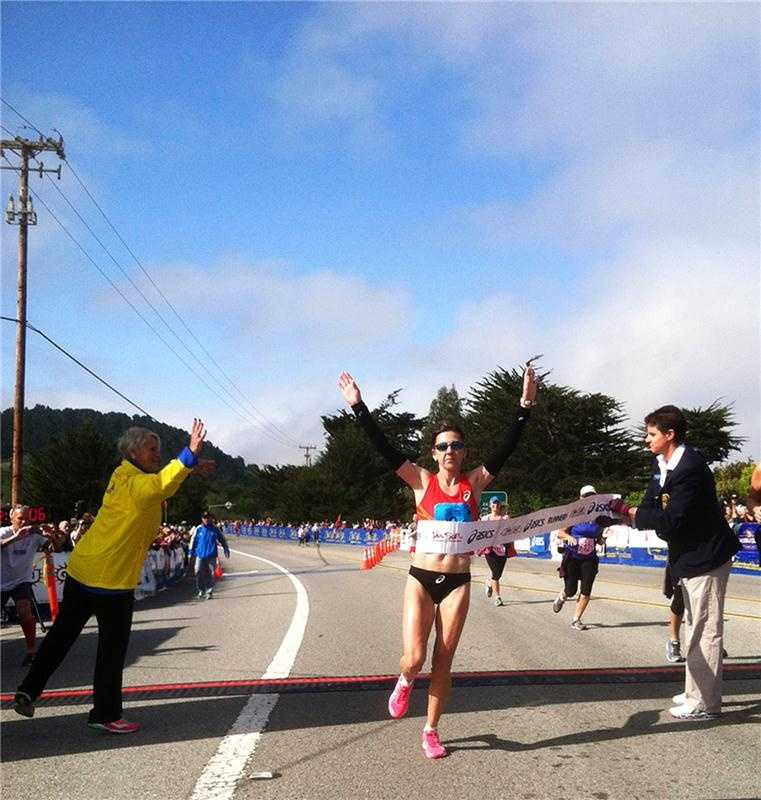 Nuta Olaru, 42, of Longmont, Colorado, was the top female marathon finisher and, like Roach, was also the 2012 defending champion. Olaru is a former Olympian and her winning race time Sunday was 2:50:02.