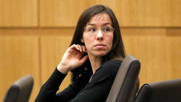 Jodi Arias at her murder trial.