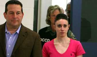 Arias was often compared to Florida mother Casey Anthony. But Wednesday's verdict was starkly different from the fate received by Anthony, who was freed from jail after the jury found her not guilty in her daughter's slaying.This is a photo of Anthony the day she walked free.