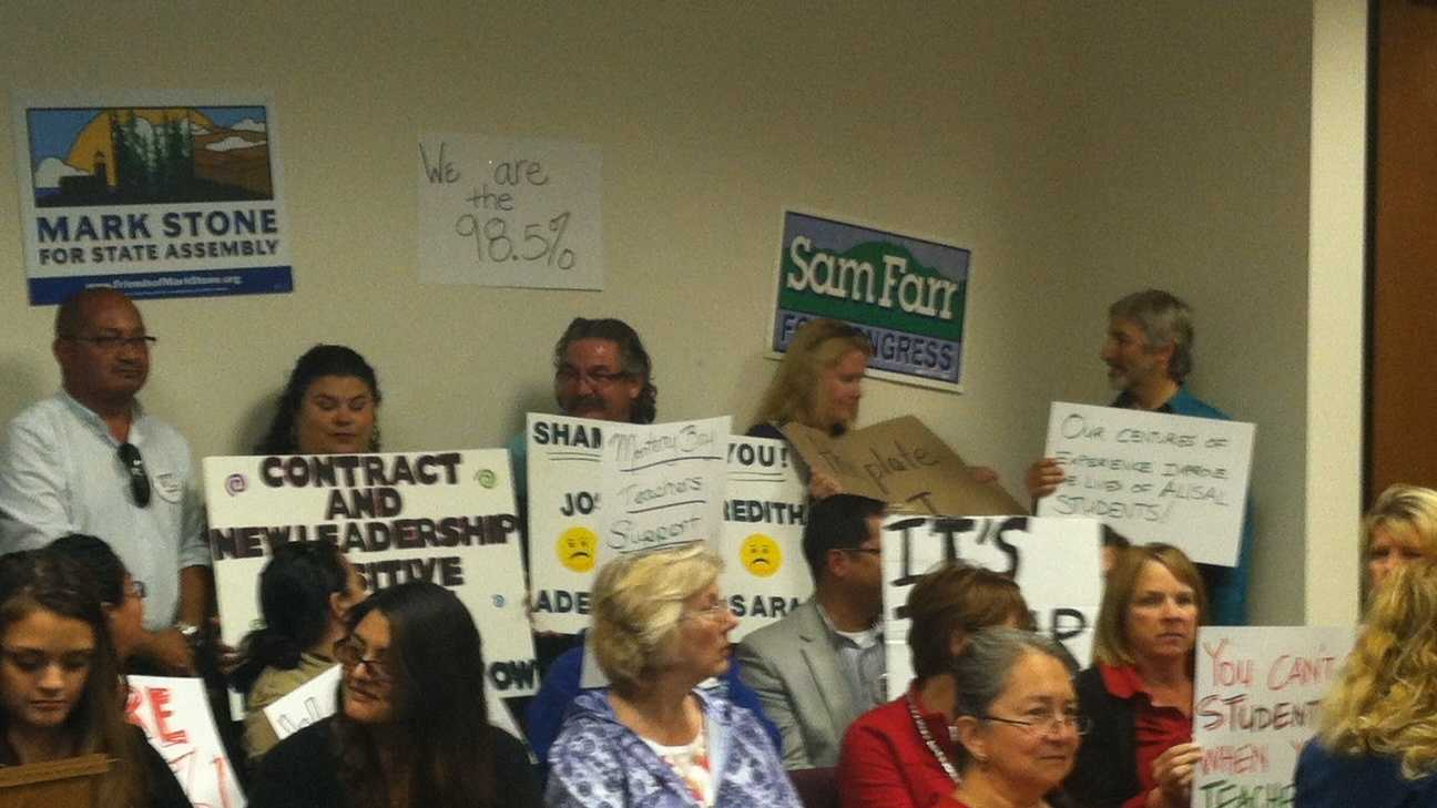 Teachers, union members hold no confidence in superintendent