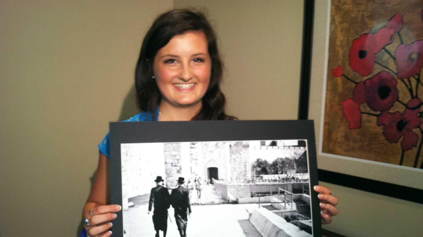 Rachel Martin, 18, of Aptos, smiles with her winning photograph. (June 12, 2013)