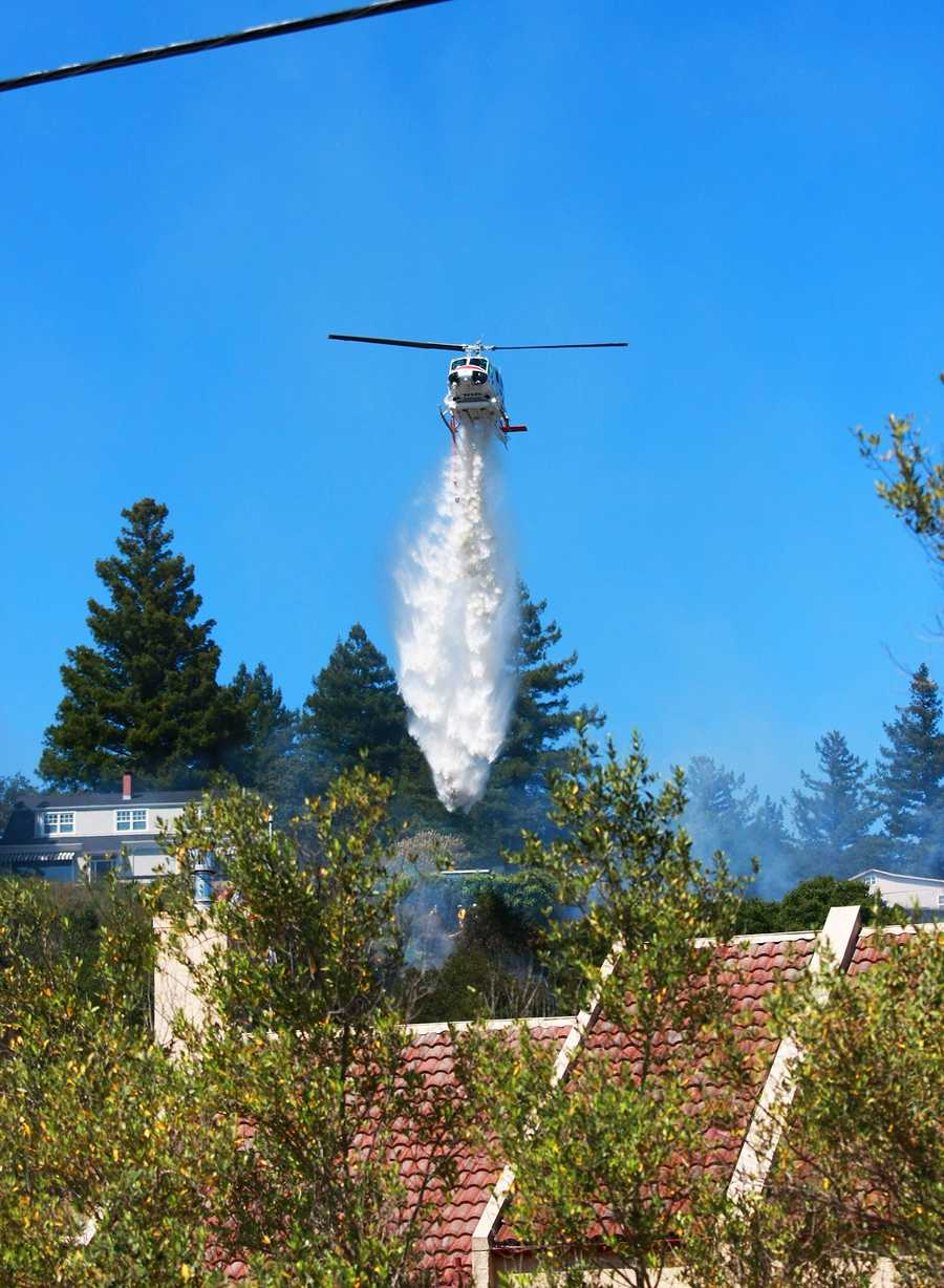 At 3:09 p.m. Thursday, at least four separate fires ignited within minutes of each other off Graham Hill Road above where the two major highways intersect. Large columns of smoke and this helicopter caught the attention of hundreds of motorists.