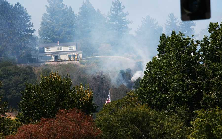 """""""Investigators determined the fire was intentionally ignited at several points along a trail in the wildland area behind the Elks Lodge,"""" Santa Cruz Deputy Police Chief Steve Clark said."""
