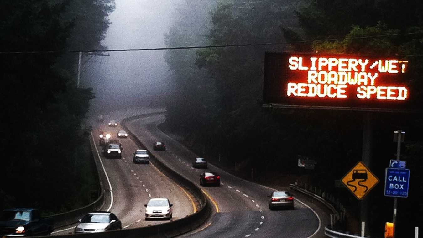 Highway 17 was slick on Monday. (June 24, 2013)