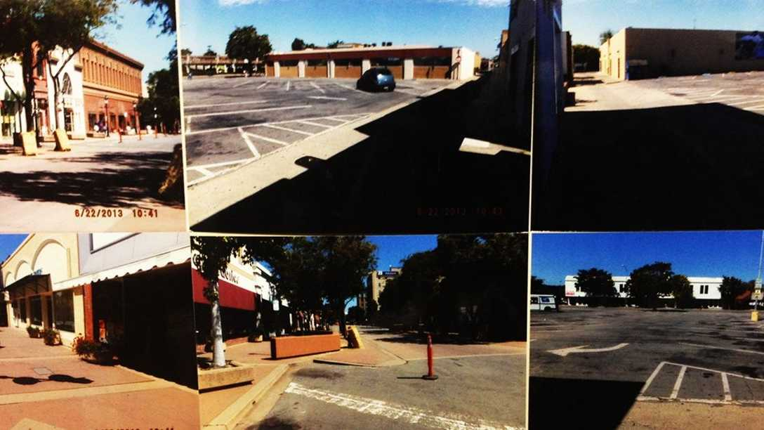 Images show virtually empty streets in Oldtown Salinas during Saturday's bike race.