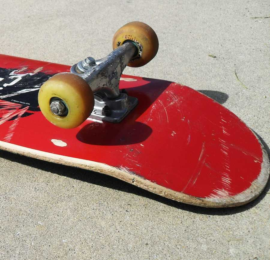 Detectives said the murder weapon was a skateboard.